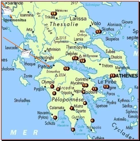 Récit et diaporamas de notre voyage en Grèce, Péloponnèse, Egine