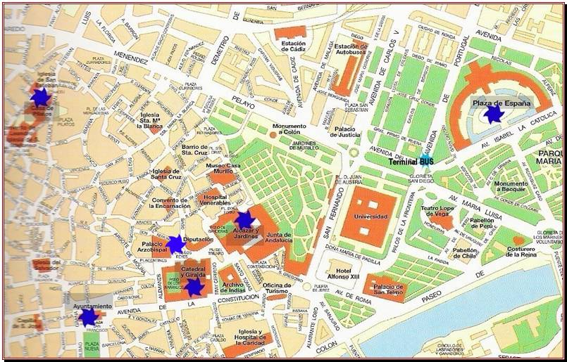 Plan seville - Office du tourisme andalousie ...